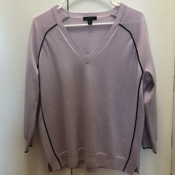 J. Crew Other - J.Crew Lavender Wool Sweater w/ ribbed sides